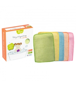 Petits gants d'apprentissage lavables en bambou couleur écologiques - 5 pièces - Les Tendances d'Emma