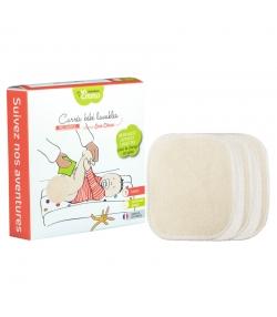 Ökologische waschbare quadratische Babytüchlein aus Baumwolle - 5 Stück - Les Tendances d'Emma