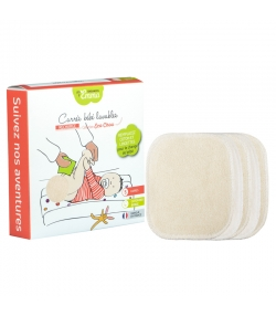 Carrés bébé lavables en coton écologiques - 5 pièces - Les Tendances d'Emma