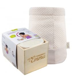 Kit Eco Belle Bois Coton écologique - 15 carrés démaquillants, boîte & filet de lavage - Les Tendances d'Emma