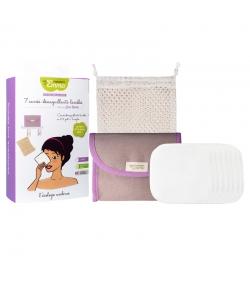 Ökologisches Kit Eco Belle Mini Eukalyptus - 7 quadratische Abschminkpads, Beutel & Wäschenetz - Les Tendances d'Emma