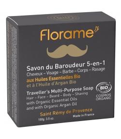 Savon du baroudeur 5 en 1 homme BIO cèdre & argan - 100g - Florame