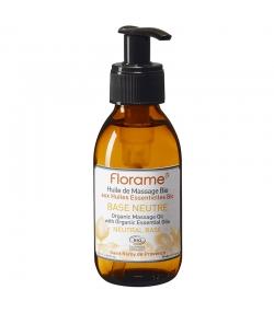 Huile de massage base neutre BIO abricot, amande douce & sésame - 120ml - Florame