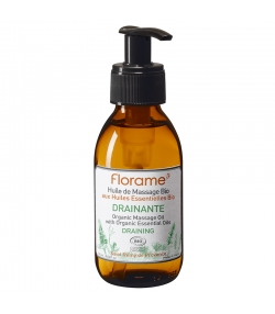 Huile de massage drainante BIO calophyllum, cèdre & menthe poivrée - 120ml - Florame