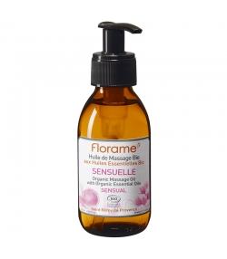 Huile de massage sensuelle BIO amande douce, patchouli & ylang-ylang - 120ml - Florame