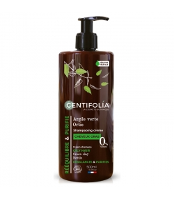 BIO-Cremeshampoo fettiges Haar grüne Tonerde & Brennnessel - 500ml - Centifolia
