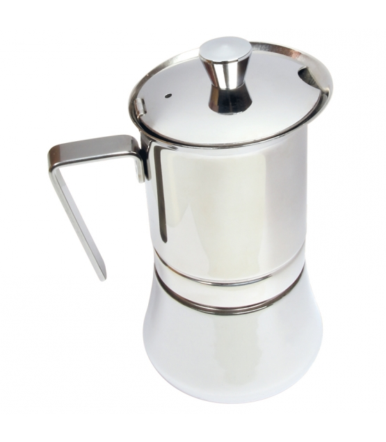 Italienischer Espressokocher aus Edelstahl für 4 Tassen - 1 Stück - ah table !