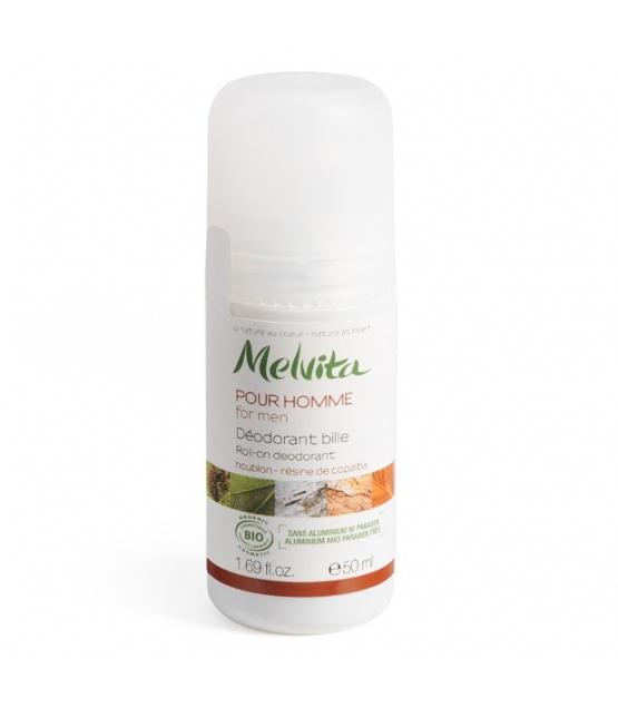 Déodorant à bille BIO houblon peau homme - 50ml - Melvita