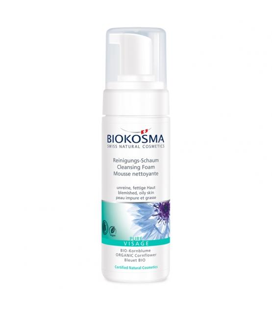 BIO-Reinigungs-Schaum Kornblume - 150ml - Biokosma Pure