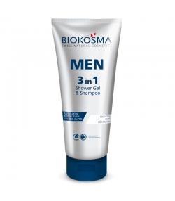 Gel douche & shampooing 3 en 1 homme BIO fleurs de houblon & lin - 200ml - Biokosma