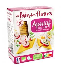 Knusprige Apéro Kokosnuss & Curry BIO-Schnitten - 150g - Le pain des fleurs