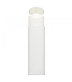 Bouteille Vario ronde en plastique blanc 50ml avec bouchon à clip blanc - 1 pièce - Aromadis