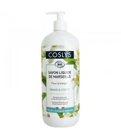 Flüssige BIO-Marseiller Seife Hände & Körper Orangenblüten - 1l - Coslys