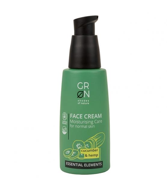 Crème visage hydratante BIO concombre & chanvre - 50ml - GRN Essential Elements