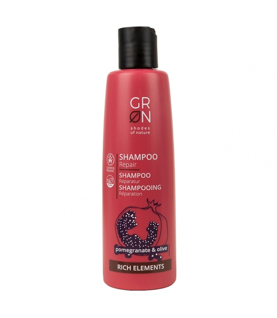 BIO-Reparatur-Shampoo Granatapfel & Olive - 250ml - GRN Rich Elements