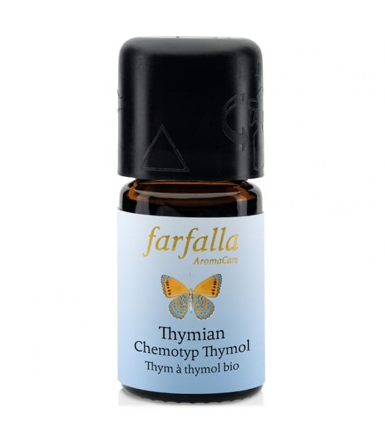 Ätherisches BIO-Öl Thymian Chemotyp Thymol - 5ml - Farfalla