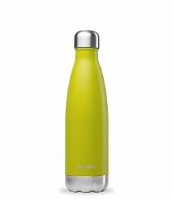 Bouteille isotherme en inox vert anis - 500ml - 1 pièce - Qwetch Originals Mat
