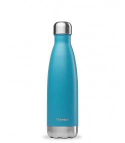 Bouteille isotherme en inox bleu turquoise - 500ml - 1 pièce - Qwetch Originals Mat