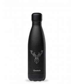 Bouteille isotherme en inox tattoo cerf - 500ml - 1 pièce - Qwetch Animal Tattoo