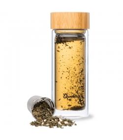 Théière isotherme en verre avec bouchon bambou - 320ml - 1 pièce - Qwetch Nature