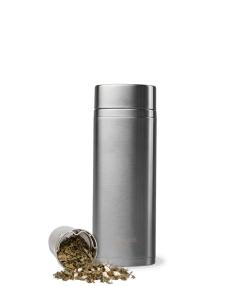 Thermos-Teeflasche für unterwegs aus gebürstetem Edelstahl - 400ml - 1 Stück - Qwetch Originals Mat