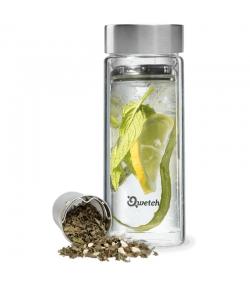 Théière isotherme en verre avec bouchon inox - 430ml - 1 pièce - Qwetch Originals