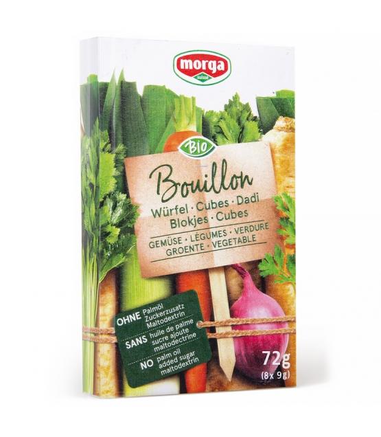 BIO-Gemüse-Bouillon Würfel - 8 Würfel - Morga