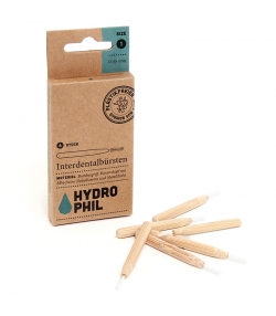 Brosses interdentaires en bambou Taille 1 - 0,45mm - 6 pièces - Hydrophil