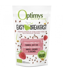 Easy Breakfast céréales germées moulues framboise, lin & chia BIO - 350g - Optimys