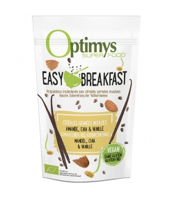 Easy Breakfast céréales germées moulues amande, chia & vanille BIO - 350g - Optimys