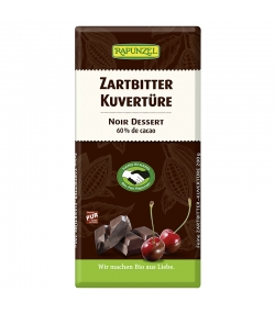 BIO-Zartbitter Kuvertüre - 200g - Rapunzel