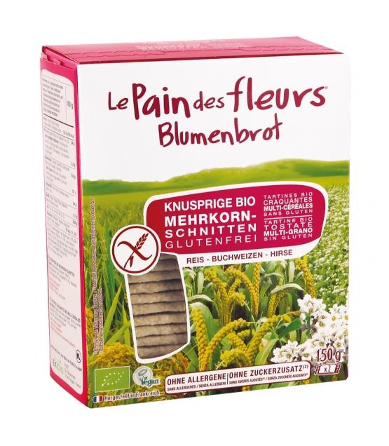 Tartines craquantes multi-céréales au riz, sarrasin & millet BIO – 150g – Le pain des fleurs