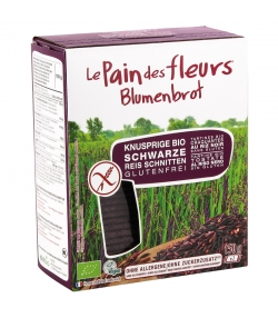 Tartines craquantes au riz noir BIO - 150g - Le pain des fleurs
