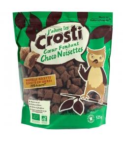 Gefüllte BIO-Cerealien weicher Kern Schokoladen- & Haselnussgeschmack - 525g - Favrichon Crosti