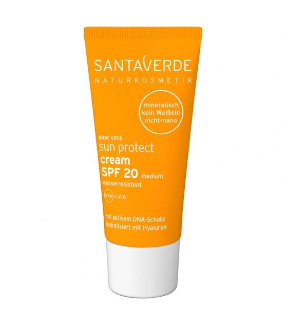 Crème solaire visage & corps BIO IP 20 aloe vera & acide hyaluronique - 50ml - Santaverde