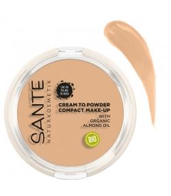 "BIO-Kompakt Make-up ""Cream to Powder"" N°01 Cool Ivory - 9g - Sante"