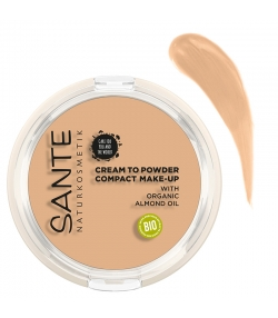 "Fond de teint compact ""Cream to Powder"" BIO N°01 Cool Ivory - 9g - Sante"