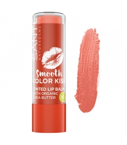Baume à lèvres teinté BIO N°01 Soft Coral - 4,5g - Sante