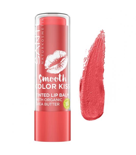 Baume à lèvres teinté BIO N°02 Soft Red - 4,5g - Sante