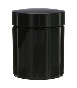 Pot en verre noir 50ml avec couvercle à vis noir - 1 pièce - Potion & Co