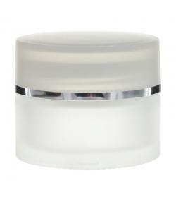 Pot en verre dépoli 30ml avec couvercle à vis transparent - 1 pièce - Potion & Co