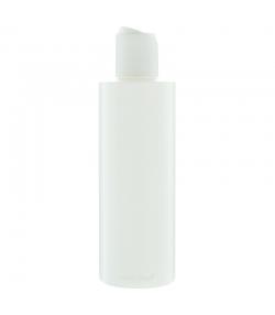Bouteille Tara ronde en plastique blanc 200ml avec bouchon disctop blanc - 1 pièce - Potion & Co