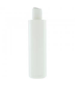 Bouteille Tara ronde en plastique blanc 250ml avec bouchon disctop blanc - 1 pièce - Potion & Co