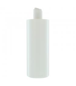Bouteille Tara ronde en plastique blanc 500ml avec bouchon disctop blanc - 1 pièce - Potion & Co