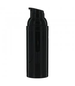 Flacon airless en plastique noir 50ml avec pompe de distribution et bouchon noir - 1 pièce - Potion & Co