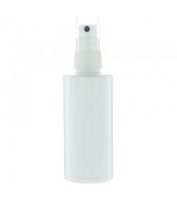 Flacon en plastique blanc 100ml avec spray et bouchon transparent - 1 pièce - Potion & Co