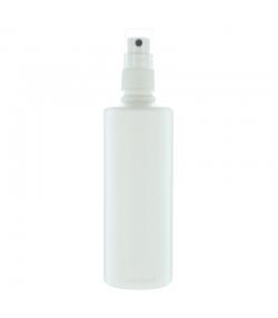 Flacon en plastique blanc 200ml avec spray et bouchon transparent - 1 pièce - Potion & Co