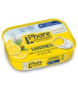 Sardines à l'huile d'olive & au citron BIO - 135g - Phare d'Eckmühl
