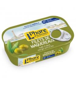 Filets de maquereaux à l'huile d'olive BIO - 118g - Phare d'Eckmühl