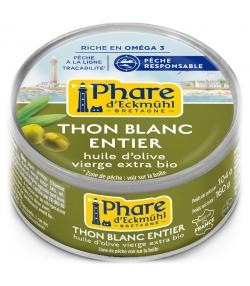 Thon blanc germon entier à l'huile d'olive BIO - 160g - Phare d'Eckmühl
